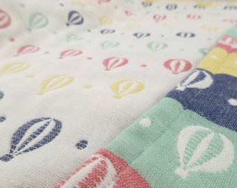 Soft baby blanket, muslin blanket, balloons blanket, baby blanket, gauze blanket, stroller blanket