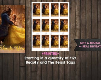 Beauty and the Beast Tags, Belle gift tag, Beauty and the Beast, printed