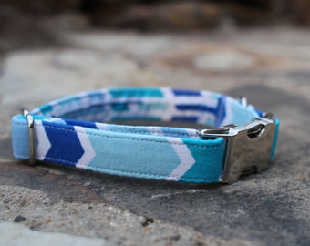 Arrow Collar | Dog Collar | Male Dog Collar | Pet Collar | Large Dog Collar | Small Dog Collar | Gift for Dog Lovers | Blue Dog Collar