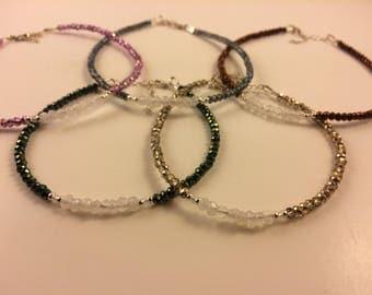 Moonstone ankle bracelet