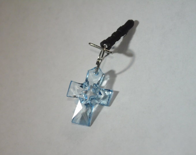 Blue Cross Cell Phone Charm