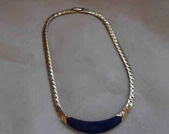 Fab big and bold designer signed necklace signed JV 1980's