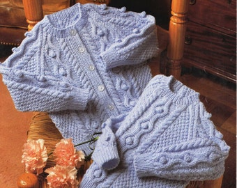 childrens sweater and cardigan dk knitting pattern 99p pdf