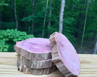 Raw Cedar Coasters