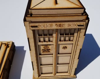 Similar to Dr.Who Tardis wood laser cut model