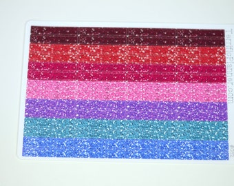 Glitter Headers  Multi Colors For Planner Glossy Or Matte Stickers #082
