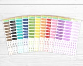 Multi-Color Date Cover BUNDLE! Save 10%! 10 Sheets of Planner Stickers; Perfect for Erin Condren Life Planners, Happy Planners & more!