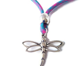 PARACORD NECKLACE DRAGONFLY pendant