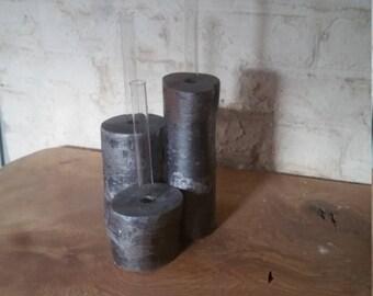 Triple test tube vase