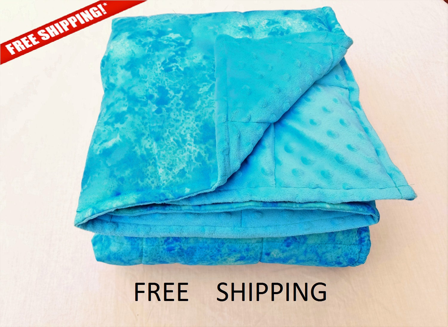 Weighted Blanket Adult Minky Weighted Blanket Customize