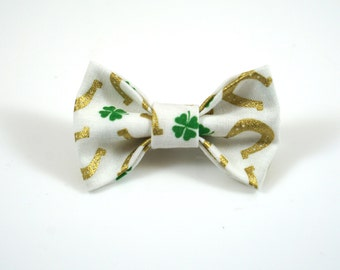 Horseshoe Bow. Baby Photo Prop. Toddler Barrette. St Patricks Bow. Toddler Hair Bow. Baby Hair Clip. Toddler Hair Clip. Green Baby Bow.