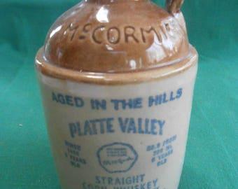 Vintage McCormick Platte Valley Corn Whiskey JUG