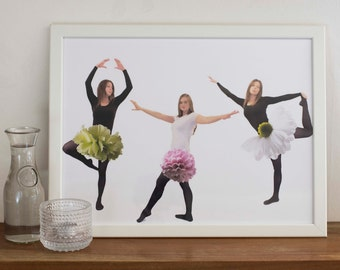 Flower dance- print 30x40cm (11,8x15,7 inches). Poster, photography art, paper, wall art, surreal photo, surrealistic