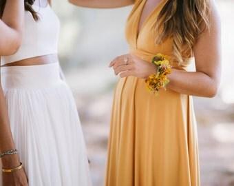 Bridesmaid Dress Infinity Mustard Convertible Dress Long Maxi Formal Multiway New Years Eve dress Evening Dress Wrap Dress Christmas dress E
