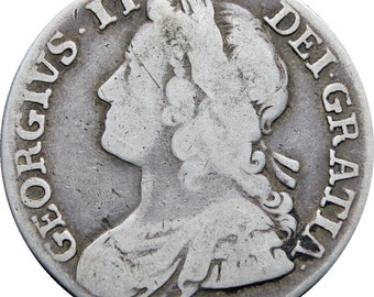 1739 Great Britain George II Shilling Silver Coin