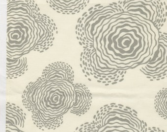 FQ - Amy Butler Midwest Modern for Rowan Fabrics - Floating Buds in Linen/Gray - Quilting Cotton