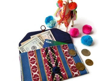 boho coin purse hippie bag women accessory envelope purse small tribal pouch handmade purse