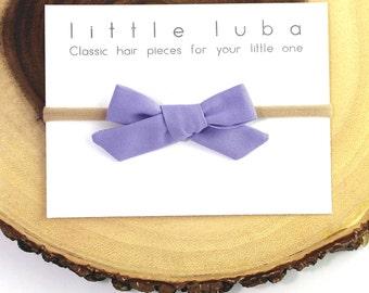 baby headband, toddler headband, bow headband, girls hair bow, baby girl headband, baby girl bow, infant headband. LILAC Schoolgirl Bow