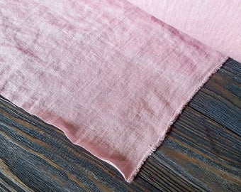 Light pink linen fabric by the meter, softened natural linen baby pink linen fabric, prewashed stonewashed pink linen fabric by the yard 7oz