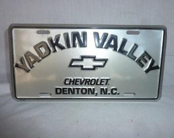 Great Chevrolet Dealer Plate Yadkin Valley Chevrolet Denton NC
