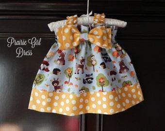 Baby Forest Dress, Baby Shower Gift, Newborn Clothing, Newborn Gift