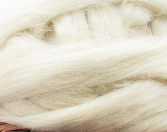 Cotswold Wool Top Roving - Undyed Natural Spinning & Felting Fiber / 1oz
