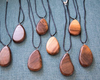 Black Walnut Pendant Necklaces
