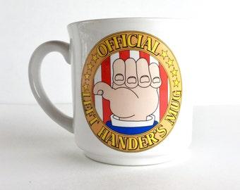 S A L E  Vintage Official Left Hander's Mug