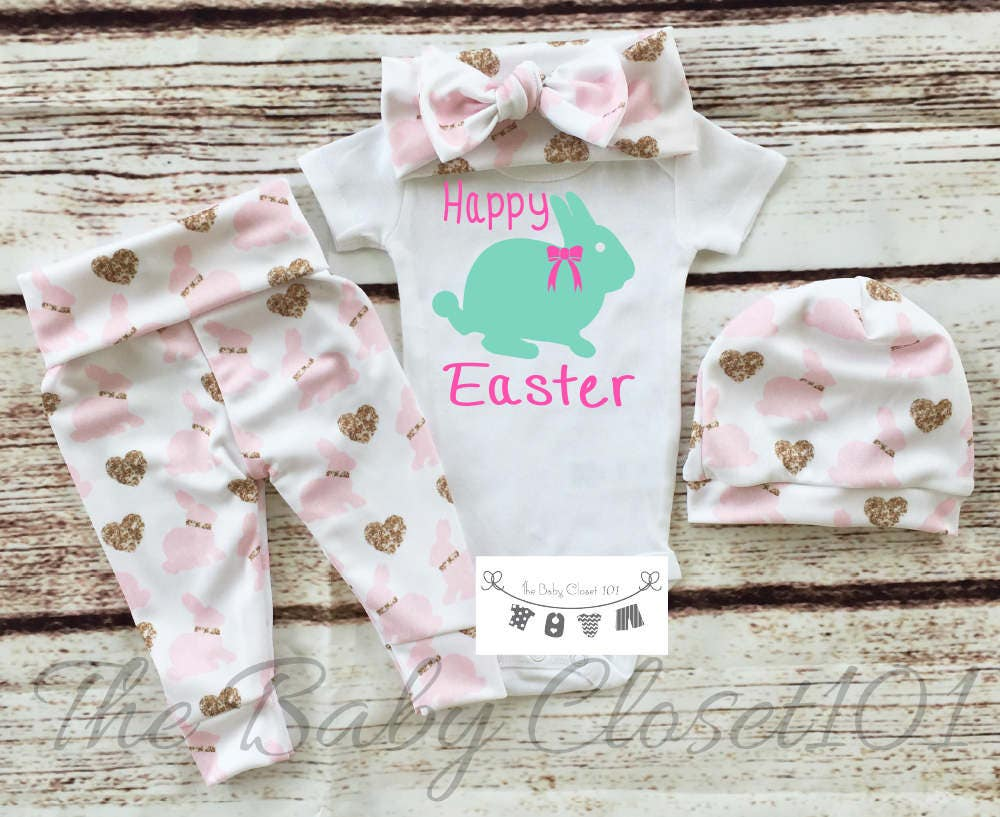 aa5b93fab206 Baby Girl Easter Outfit,Easter Outfit,Girls Easter Leggings,Newborn Easter  Outfit,