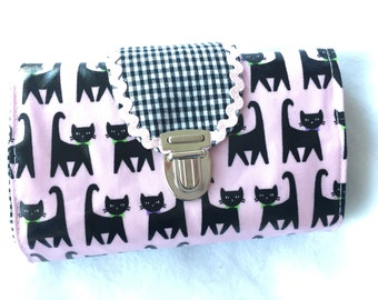 Purse MIDI Deluxe pink cats