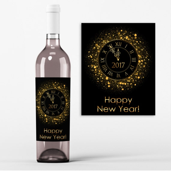 New Years Eve Wine Bottle Label -2017 New Year's Party ...