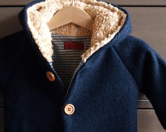 "Warm Coat ""Moritz"", new wool, lined"