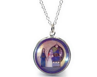 Disney Brave Merida Tappestry 20mm Glass Fronted Pendant Necklace
