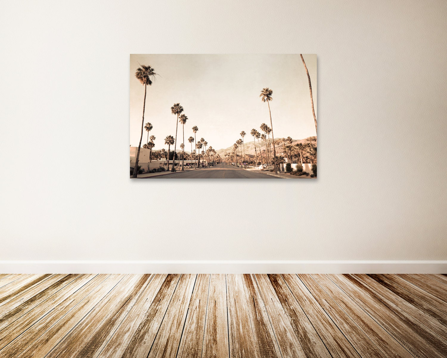 Mid Century Wall Decor mid century modern wall art large palm springs canvas art