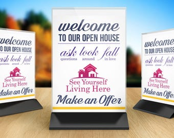 open house printable | etsy, Powerpoint templates