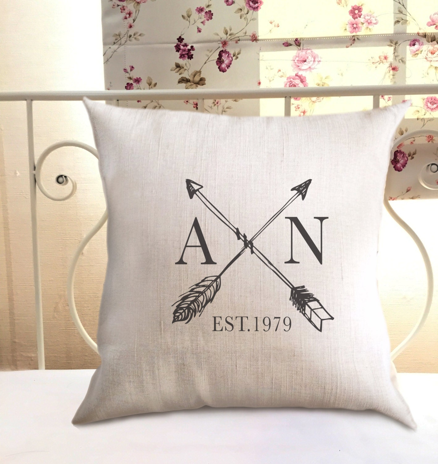 Personalised Wedding Gifts Pillow Cases : Wedding gift couple Burlap pillow case / Personalized /