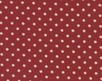 Red Polka Dot Canvas - by Fat Quarter