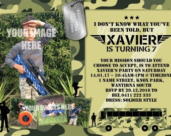 Army Camoflage Invitation