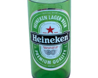 Set of 2 Heineken Stubby Beer Bottle Drinking Glasses - Recycled / Upcycled