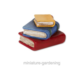 Stacked Books for Miniature Garden, Fairy Garden