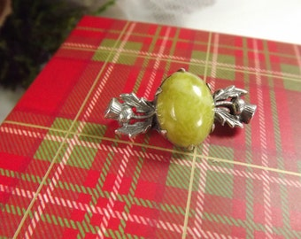 Thistle, Scottish Silver Thistle Pin Brooch, Vintage, Tartan Gift Box