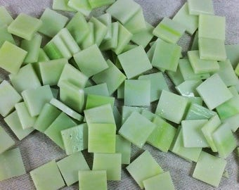 110 Light Green Tiffany Style Glass Marble Mosaic 15mm Mosaic Tiles Craft Mosaic Glass Mosaic Tiles Mosaic Tile