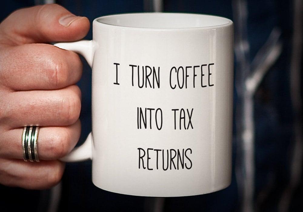 I Turn Coffee Into Tax Returns by PhotoCeramics on Etsy