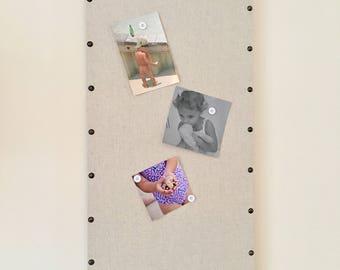 "Magnetic Message Photo Board, Memory, Memo Bulletin 14"" x 28"""