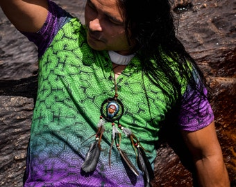 Shipibo t shirt, Colors of amazon forest, Sacred Geometry, Ayahuasca clothes, Psychedelic Clothes, Entheogen clothes, Shamanic cothes