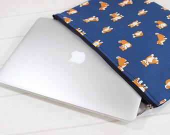MacBook Air case, Shiba inu print, Macbook sleeve, ThinkPad Yoga 12, Macbook case, laptop sleeve, Macbook Air sleeve, MacBook sleeve 12
