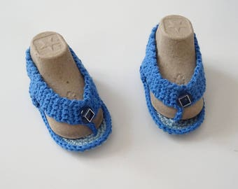 "Baby cotton thongs ""all in blue"""