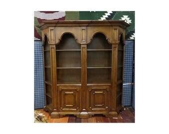Vintage Antique Italian Style 2 Piece Bookcase
