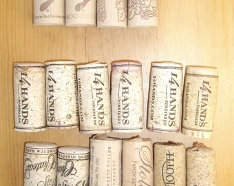 Lot of 16 Used Wine Corks, 12 Cork, 4 Synthetic Cork, Printed and Blank, US Wines, Craft, Decor, Supplies