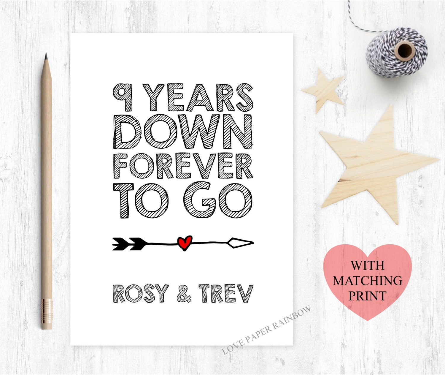 Th wedding anniversary card years